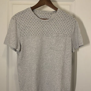 Banana Republic Soft Wash Pocket Mens SS Tee Grey